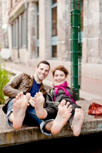 Chloé et Alexandre séance engagement rouen photographe de mariage ludivine fleury rue eau de robec