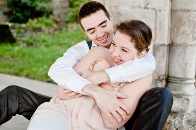 Clémence et Fabien séance engagement photographe rouen séance engagement mariage ludivine fleury