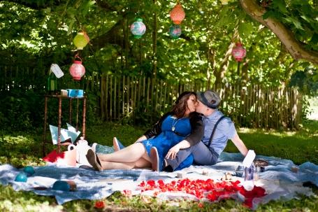 Emilie et Jerémy séance engagement alice au pays des merveilles mariage photographe ludivine fleury