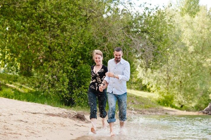 Maxime et Sandra séance photo engagement lac de bedanne photographe de rouen ludivine fleury