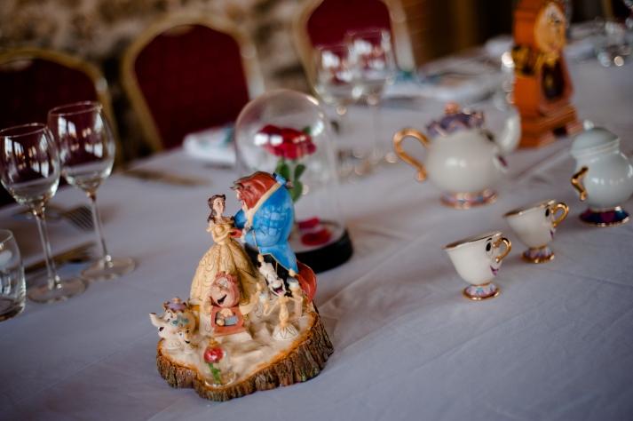 Mariage Disney, table la belle et la bête