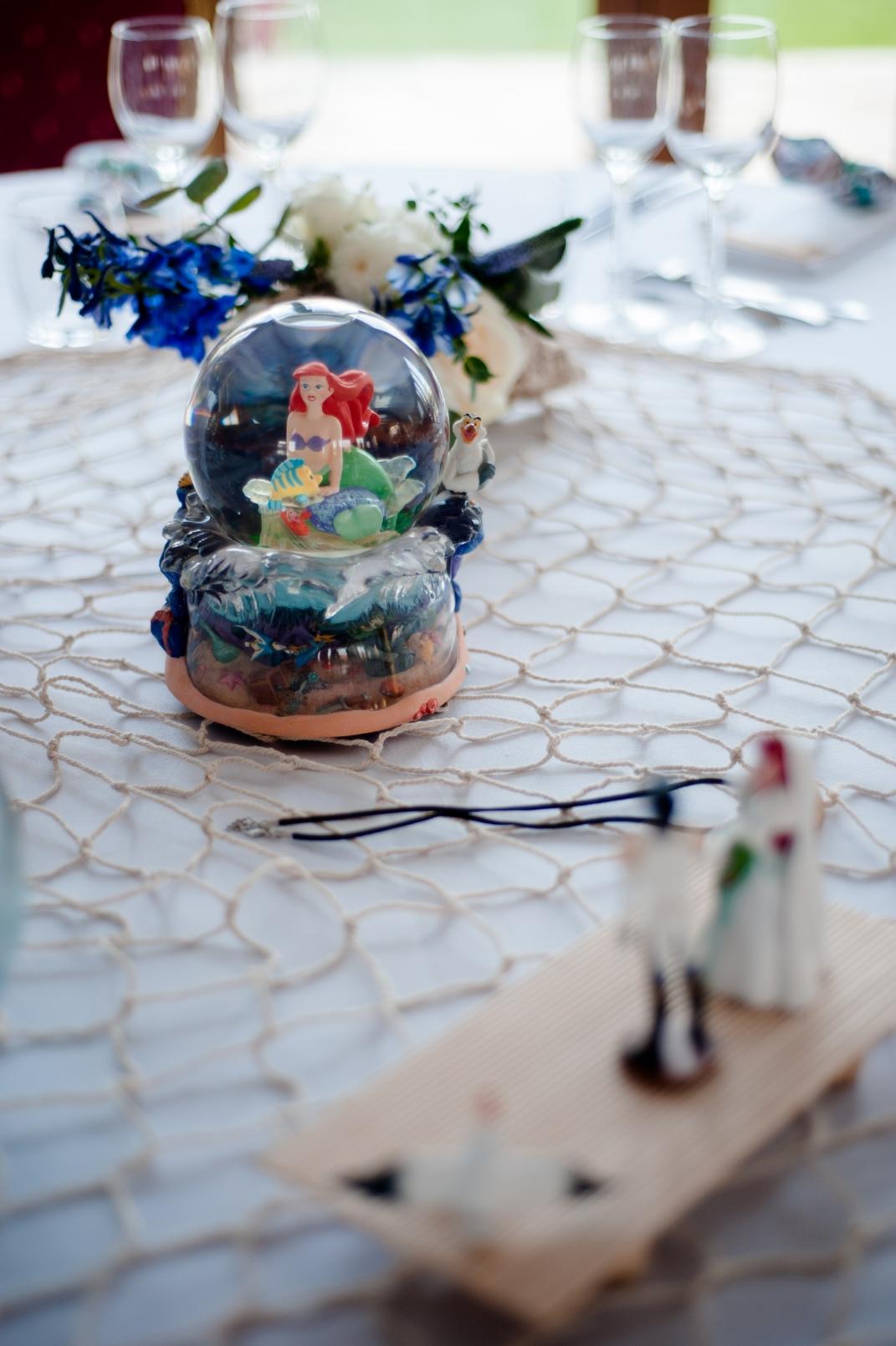 Mariage Disney, table La petite sirène