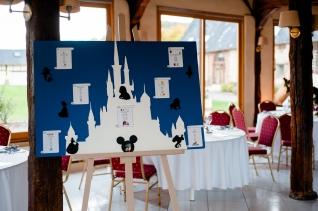 Mariage Disney, plan de table